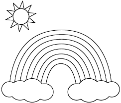 Vocabulary worksheets for ten colors. Black And White Rainbow Coloring Page Coloring Home