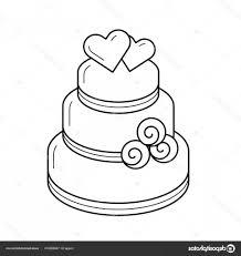Stock Illustration Wedding Cake Vector Line Icon Soidergi