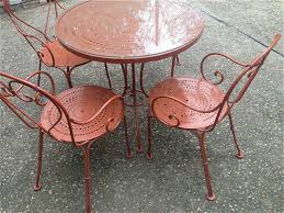 vintage woodard wrought iron patio table and chairs an ao estate taxidermy teacups deer mounts dolls amber