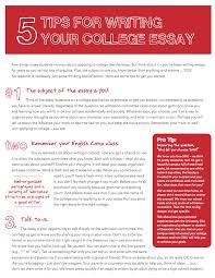 Tips For College Essays 5 Tips For Writing Your College Essay Tips Resources