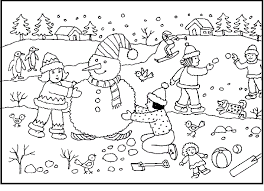 Small Picture Activity In Winter Fun coloring picture for kids Winter