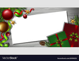 Christmas Ornaments Border Border Template With Christmas Ornaments In
