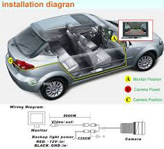auto parking system hd car rear camera built in distance scale desc