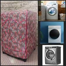 Miếng Đậy Máy Giặt Cửa Trước Lồng Ngang, Áo Trùm Cho Máy Giặt Vải Dù xịn  (mẫu chim hạc hồng) chính hãng