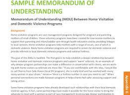Memorandum Sample Sample Memorandum Of Understanding Mou Between Home Visitation