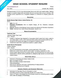 Tips For Resumes High School Resume Template Writing Companion In