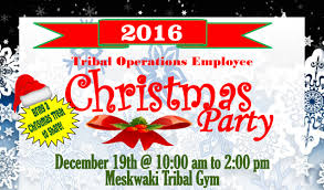 Work Christmas Party Flyers 2016 Employee Christmas Party Flyer Meskwaki Nation