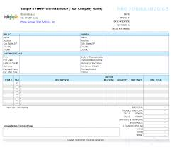 Pro Forma Example Ups Proforma Invoice Template