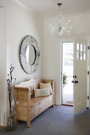 decorate narrow entryway hallway entrance. entrywaylongbenchlargeroundmirrorchandelier decorate narrow entryway hallway entrance s