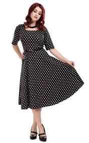 Collectif Amber Polka Dot Swing Dress