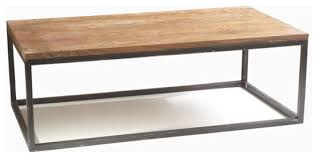 Coffee Table:Modern Wood Coffee Table Reclaimed Metal Mid Century Round  Natural Diy Contemporary Affordable