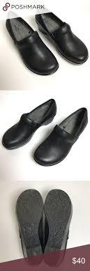 Jbu Jambu Designs Jbu Jambu Designs Black Leather Clog Shoes Euc Minimal