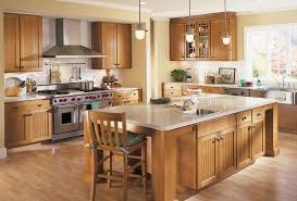 A Full Kitchen Design with Wood Cabinets