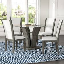 Brayden Studio Marnie 5 Piece Glass Top Dining Set Reviews Wayfair