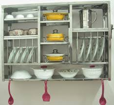 Dish Display Cabinet Kitchen Cabinet Plate Rack Kit