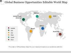Editable World Map For Powerpoint Editable World Map Slide Geeks