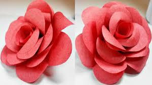 paper flowers rose diy tutorial easy for children origami flower folding 3d for kids for beginners