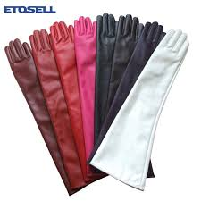 women opera evening party gloves faux leather pu over elbow long glove long gloves party gloves faux leather gloves with 31 3 piece on value222 s