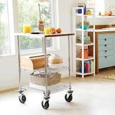 Metro Commercial Butcher Block Top Serving Cart ...