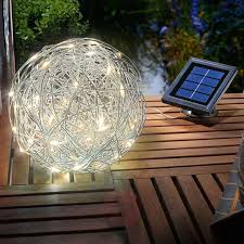Large Crackle Solar Lights 25cm Ball Globe Light Large White Solar Crackle Glass For