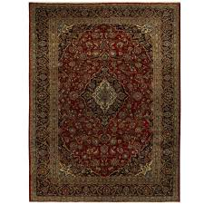 persian hand knotted tribal kashan wool rug