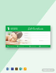Fillable Gift Certificate Template Free Free Spa Gift Certificate Template Word Psd Indesign