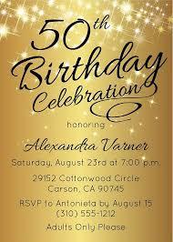 50th Birthday Invitation Template Elegant Birthday