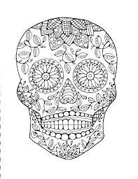 Skull Coloring Pages Skull Coloring Pages Sugar Skulls Coloring