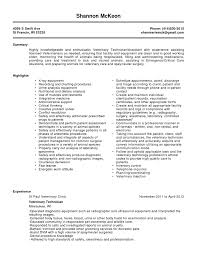 Job Resume Vet Tech Resumes Free Samples Vet Tech Resume Cover