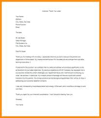 Interview Thank You Note Letter After Job Free Sample Example