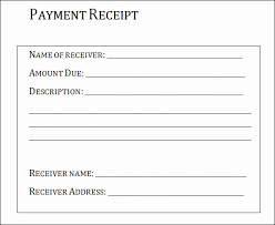 Payment Receipt Format In Word Capriartfilmfestival