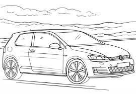 Volkswagen Golf Gti Kleurplaat Gratis Kleurplaten Printen