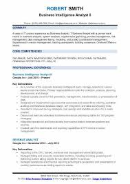 Telecom Analyst Sample Resume Adorable Business Intelligence Analyst Resume Samples QwikResume