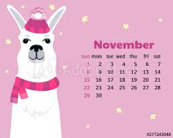 November 2020 Calendar Clip Art Monthly Calendar For November 2020 From Sunday To Saturday