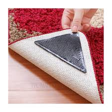 4pcs reusable rug carpet mat grippers non slip washable silicone grip for bathroom home use