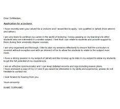 Cover Letter For The Post Of Lecturer In Engineering College