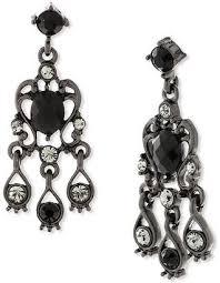 1928 jewelry 1928 vintage inspirations black brass chandelier earrings
