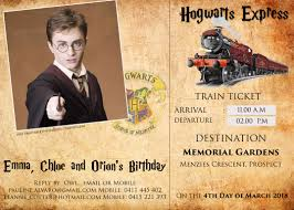 Free Harry Potter Hogwarts Express Ticket Invitation Psd Template ...