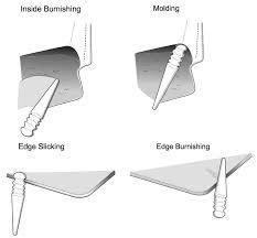 leathercraft wood edge slicker round multi size burnisher for leather