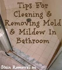 mildew in bathroom how to clean and remove mildew stains