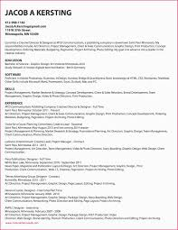 Project Manager Resume Skills Project Scheduler Fresh Project