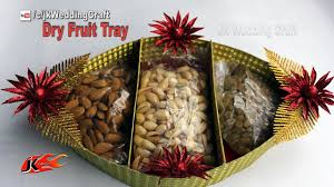 Gift Tray Decoration HOW to Make Wedding Tray DIY Dry Fruit Tray Decoration ideas 79