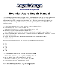 hyundai azera repair manual 2006 2011
