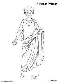 Kleurplaat Romeinse Vrouw Afb 4187 Images