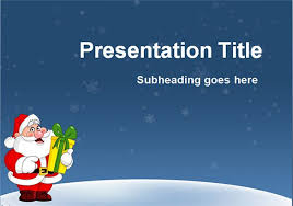 Christmas Themed Powerpoint Template Sparkspaceny Com