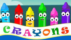 Crayons Nursery Rhymes | Crayon Color Song For Kid Songs | Nursery Rhymes -  YouTube