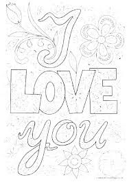 I Love You Color Pages I Love You Printable Coloring Pages I Love