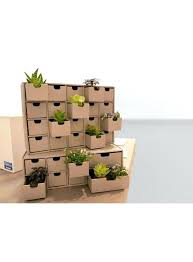 chest of drawers with ecological in corrugated cardboard diy