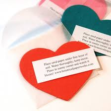 Plantable Heart Note Cards Plant The Seeded Cards And