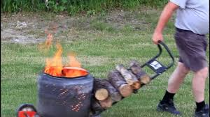 portable fire pit - YouTube